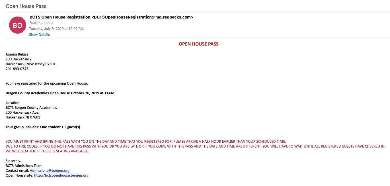 open house pass